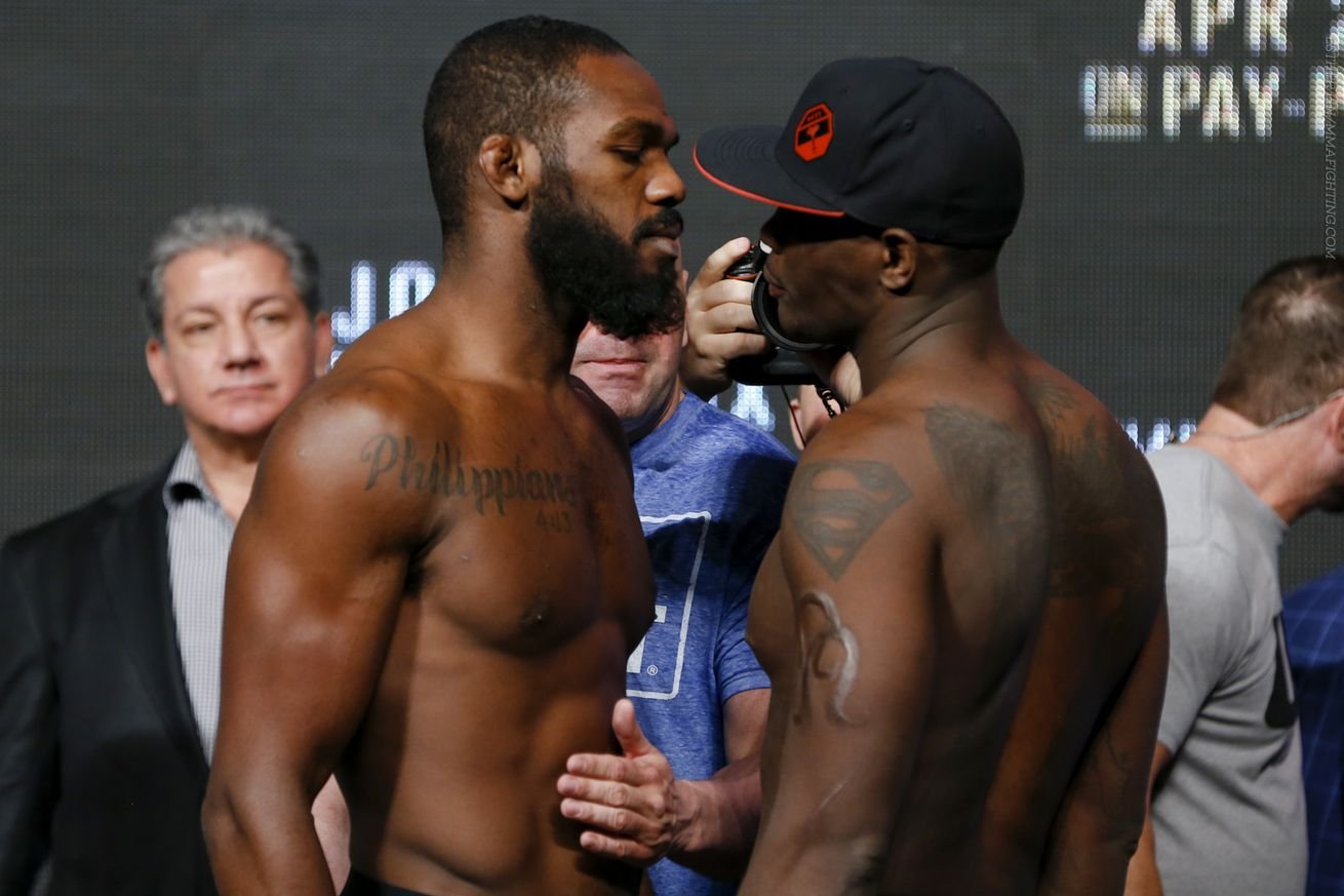 jones vs st preux weigh in